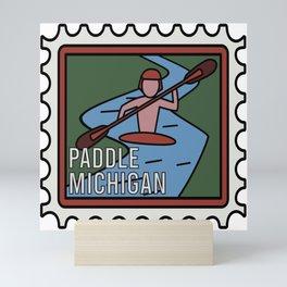 PADDLE MICHIGAN  Mini Art Print