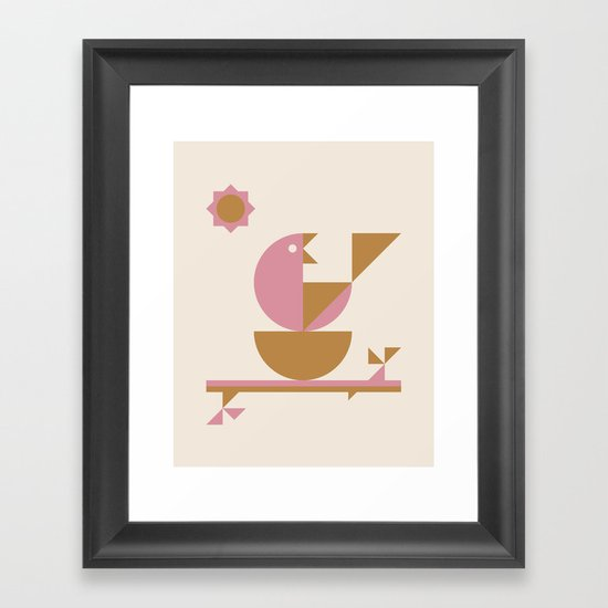 Mamma Bird Framed Art Print