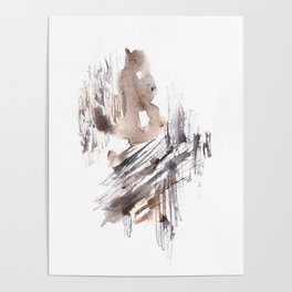 The Fool - 151124  Abstract Watercolour Poster