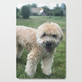 Smiling Soft Coated Wheaten Terrier Cutting Board