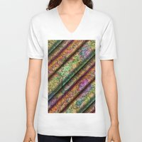 art deco V-neck T-shirts featuring ART Deco Pattern by gabiw Art