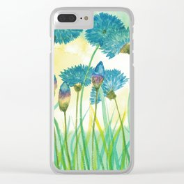 May your cornflowers never fade Clear iPhone Case
