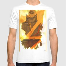 Ms Marvel MEDIUM White Mens Fitted Tee