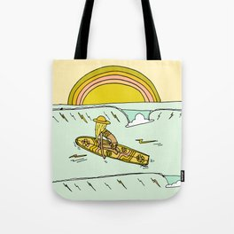 paddle on to new adventures // new year by surfy birdy Tote Bag