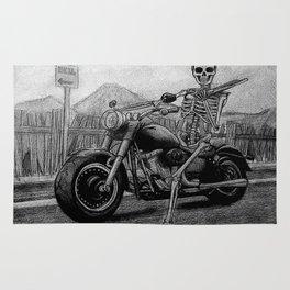 Skeleton Fat Boy Rug