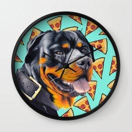 Rotty Pizza Wall Clock