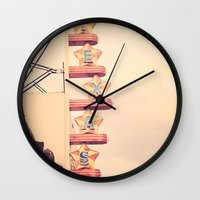 theatre Wall Clocks featuring Texas Theatre by maybesparrowphotography