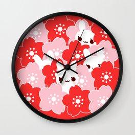 Sakura Bunny Wall Clock