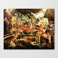 nirvana Canvas Prints featuring Nirvana by 2700art