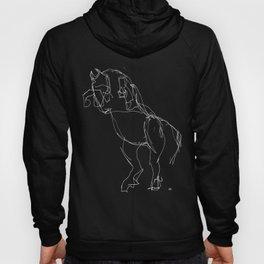 Horse (Prancing in Black) Hoody