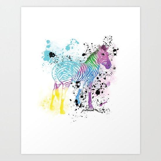 Georgy's Zebra Art Print