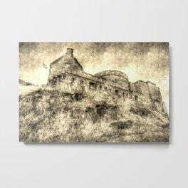 Edinburgh Castle Vintage Metal Print