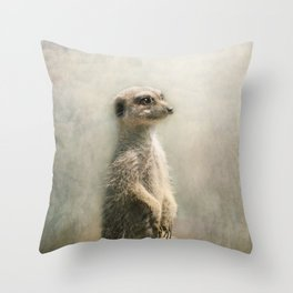 The Watcher on the post... Throw Pillow