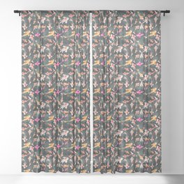 The Koi Pond Sheer Curtain