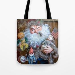 Rucus Studio Santa Claus with Toys Tote Bag