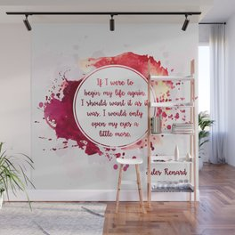 Jules Renard's quote Wall Mural