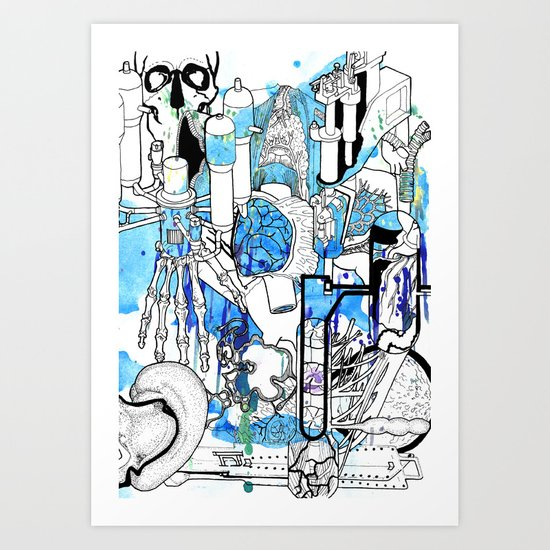 Distant Parts Art Print