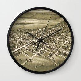 Vintage Pictorial Map of Gettysburg PA (1888) Wall Clock
