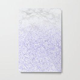 She Sparkles - Pastel Purple Glitter Marble Metal Print