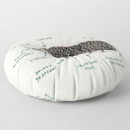 Anatomy of a Hedgehog Floor Pillow