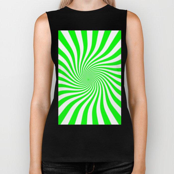 Swirl (Green/White) Biker Tank