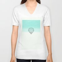 balloon V-neck T-shirts featuring Balloon by Mr and Mrs Quirynen