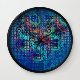 Modern guitar grunge Wall Clock