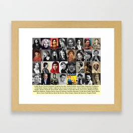Feminist Tile Framed Art Print