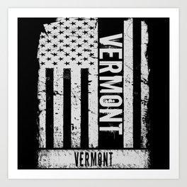Vermont USA Flag Art Print
