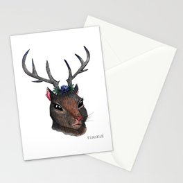 Majestic Squirrel With Antlers Stationery Cards