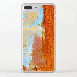 Gold & Rust Clear iPhone Case