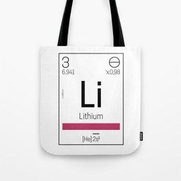 Lithium - chemical element Tote Bag