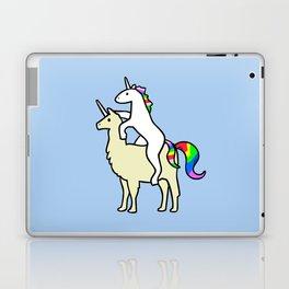 Unicorn Riding Llamacorn Laptop & iPad Skin