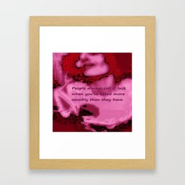 Call It Luck Framed Art Print