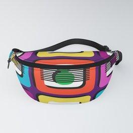 Boxed Illusion - Bright Bold Multi Colors Fanny Pack