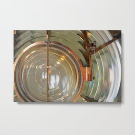 Lighthouse Lens Metal Print