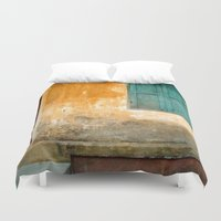 vietnam Duvet Covers featuring Antique Chinese Wall - VIETNAM by CAPTAINSILVA