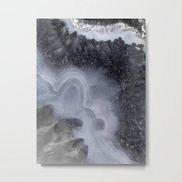 Winter Agate Metal Print