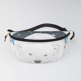 Polar Bear King Of North Watercolor Fanny Pack