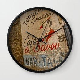 Cafe le Savoy Bar Tabac France Wall Clock