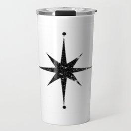black 8 point star Travel Mug