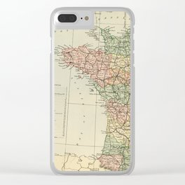 Old Map of the West of France Clear iPhone Case