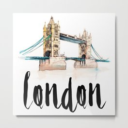 London watercolor Metal Print