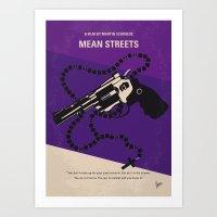 No823 My Mean streets minimal movie poster Art Print