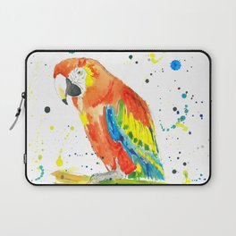 Parrot (Scarlet Macaw) - Watercolor Painting Print Laptop Sleeve