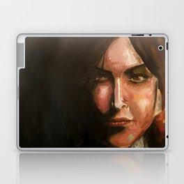 Lara Croft oil painting Laptop & iPad Skin