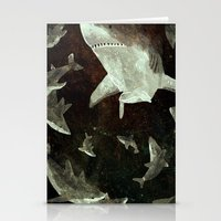 sharks Stationery Cards featuring sharks by Lara Paulussen
