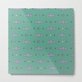 Pepper Bunny Pattern Metal Print