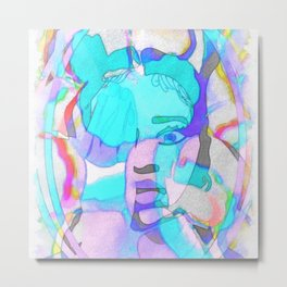 Colourful Candy Ella Mai Design Metal Print