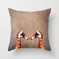 twins Throw Pillows featuring twins by Steffi Louis